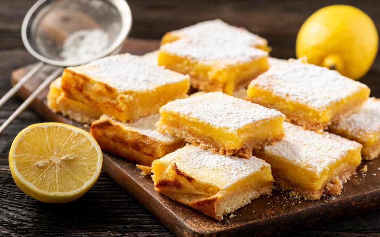 torta bassa crema limone ricetta FOTo ricettasprint