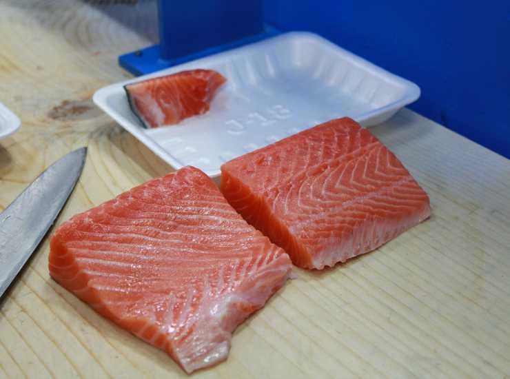 salmone sfilettato