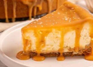 Cheesecake cotta al caramello salato