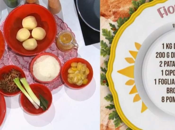 E' sempre Mezzogiorno   Ricetta della chef Antonella Ricci   Fiordilatte ripieno