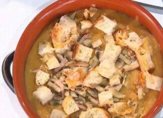 E' sempre Mezzogiorno | Ricetta della chef Barbara De Nigris | Zuppa tedesca con patate e funghi