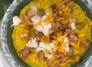 E' sempre Mezzogiorno | Ricetta dello Chef Sergio Barzetti | Risotto giallo con topinambur e zola