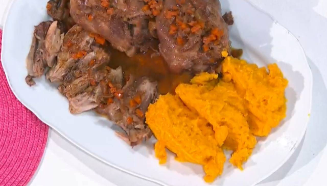 E' sempre Mezzogiorno | Ricetta dello chef Daniele Persegani | Stinco di maiale con purea di zucca