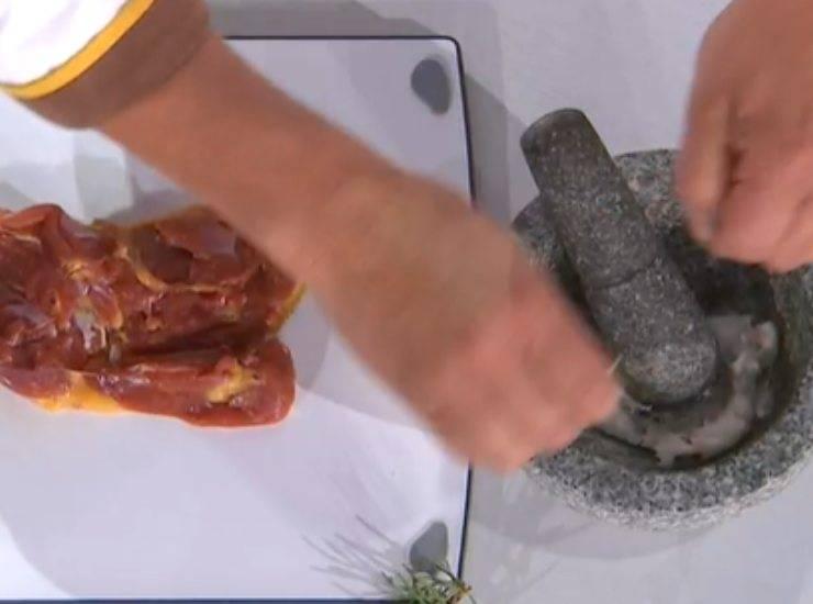 E' sempre Mezzogiorno   Ricetta dello chef Ivano Ricchebono   Cosce di faraona al miele e uva