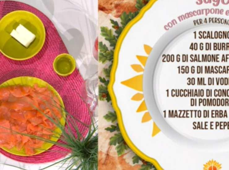 E' sempre mezzogiorno | La ricetta espressa della chef Zia Cri | Sugo con mascarpone e salmone