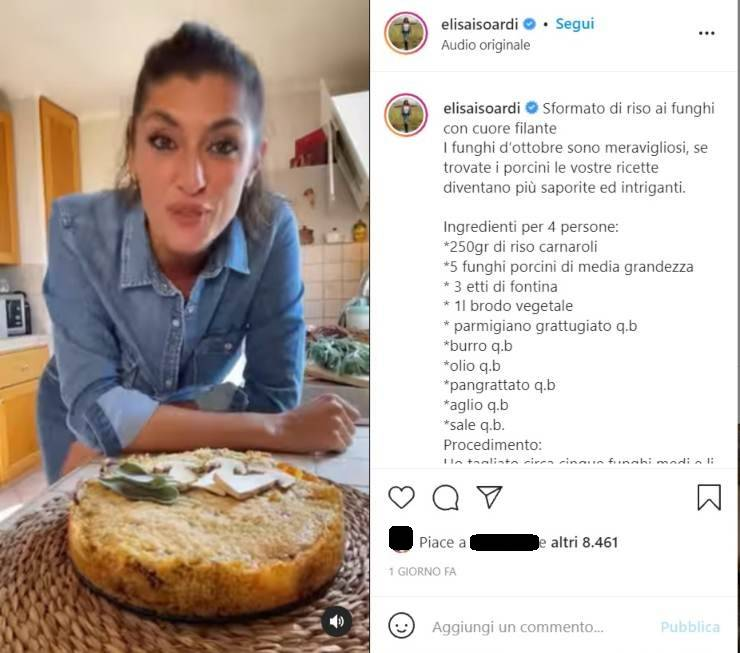 Elisa Isoardi spettacolo in cucina - RicettaSprint