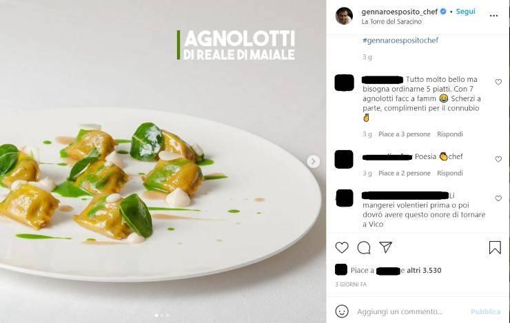 Gennaro Esposito commento inaspettato - RicettaSprint