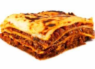lasagna con manzo e fegatini di pollo