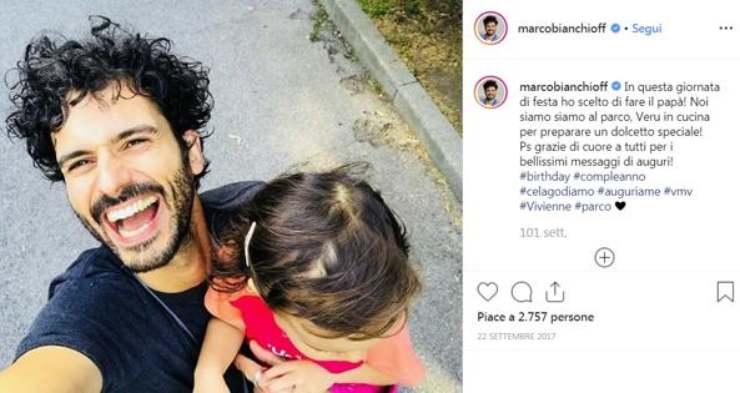 Marco Bianchi alimentazione figlia - RicettaSprint