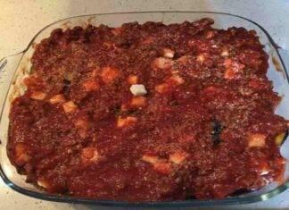 Parmigiana rossa di melanzane e zucchine