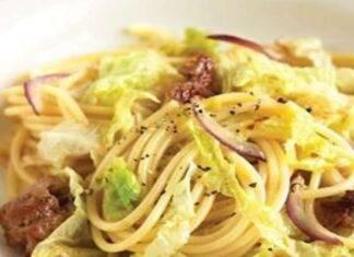 pasta verza porro salsiccia ricetta FOTO ricettasprint