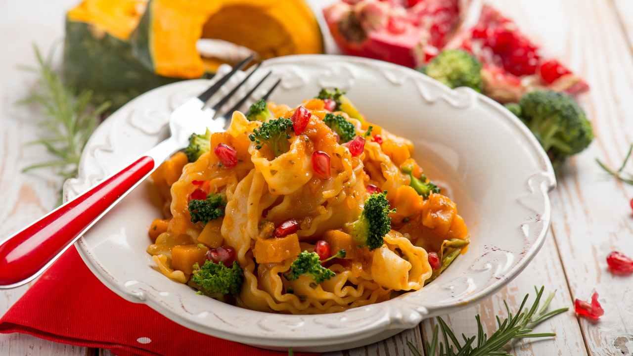 Pasta con zucca broccoli