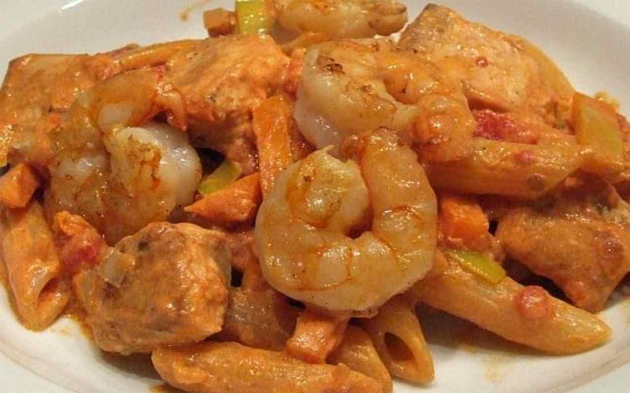 pasta gamberi pistacchio pesce spada ricetta FOTO ricettasprint