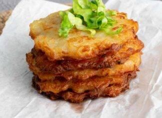 Contorno di patate impanate e cotte nel burro