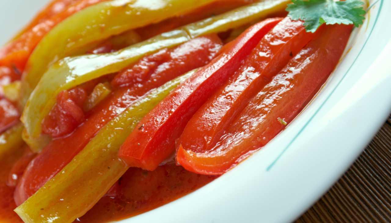 Conserva di ortaggi estivi con tuberi