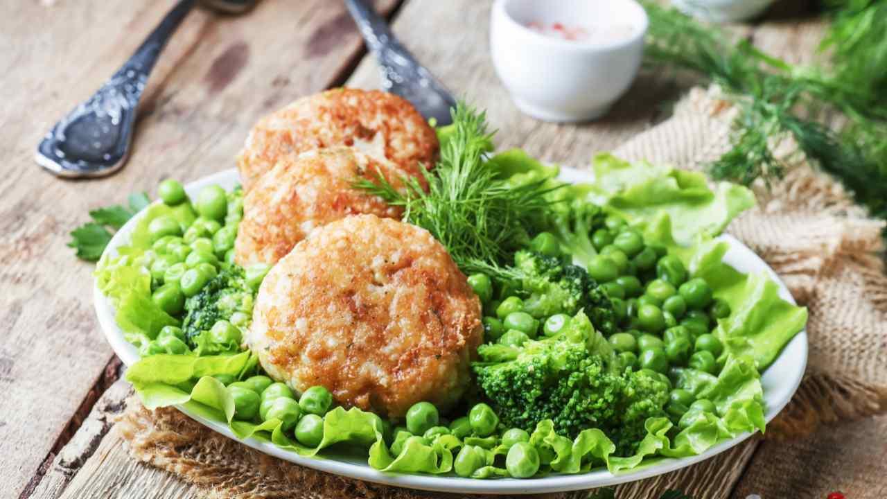 Polpette di pollo con broccoli