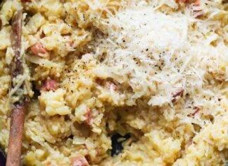 Primo di riso con carne e verdura