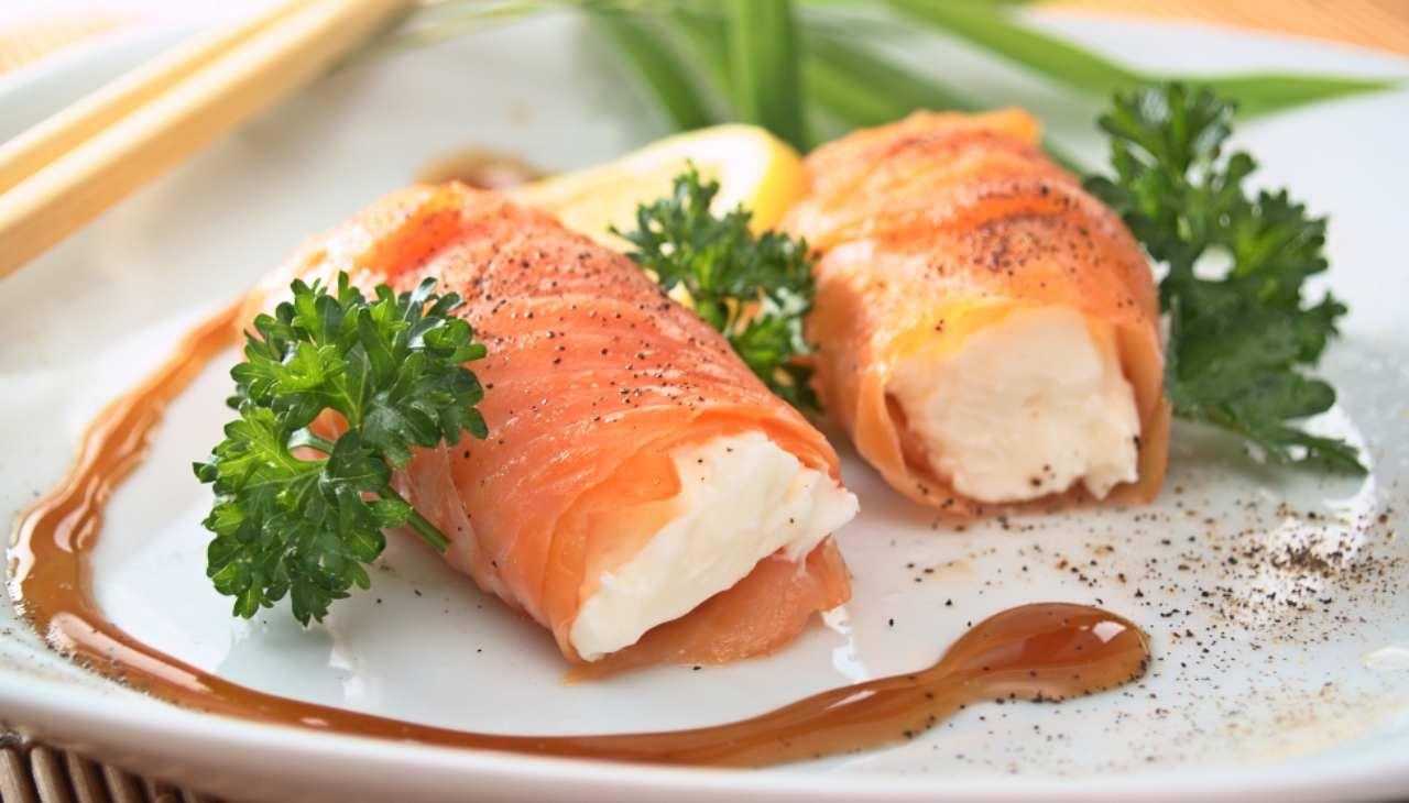 Finger food di pesce e formaggio