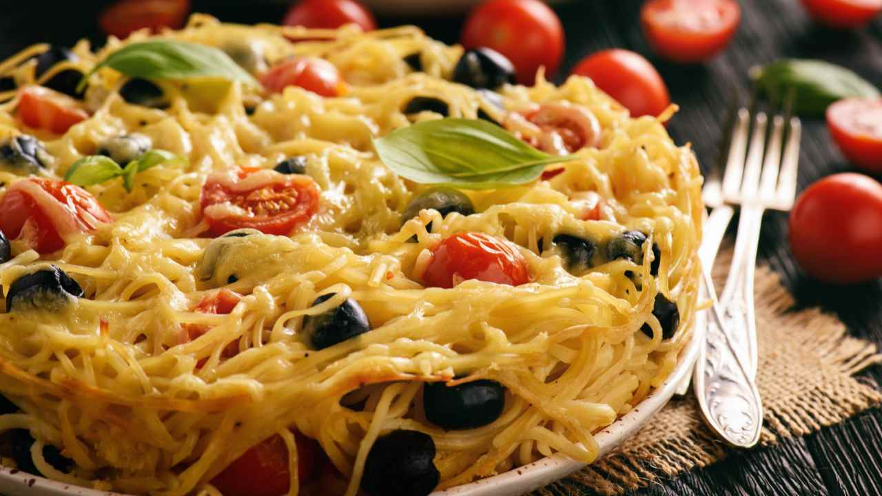 Timballo di spaghetti