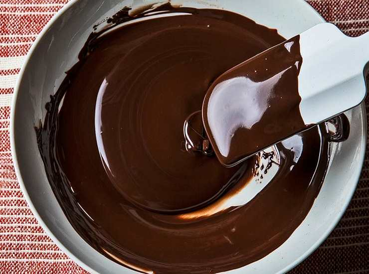 cioccolato fondente fuso